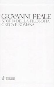 Storia della filosofia greca e romana - Giovanni Reale - copertina
