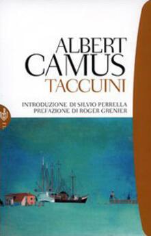 Taccuini - Albert Camus - copertina