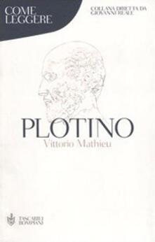 Come leggere Plotino - Vittorio Mathieu - copertina