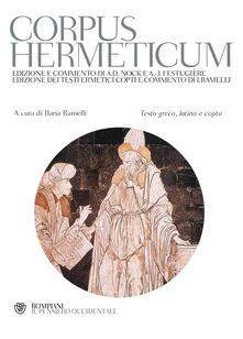 Rallydeicolliscaligeri.it Corpus hermeticum. Con testo greco, latino e copto Image