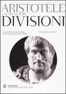 Divisioni. Testo greco a fronte - Aristotele - copertina