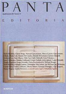 Panta. Editoria - copertina