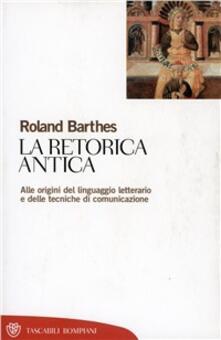 La retorica antica - Roland Barthes - copertina