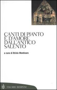 Canti di pianto e d'amore dall'antico Salento - copertina