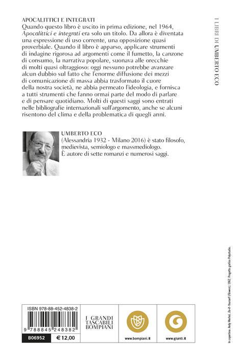 Apocalittici e integrati - Umberto Eco - 2