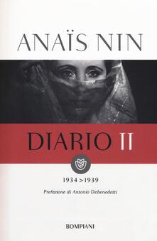 Diario. Vol. 2: 1934-1939. - Anaïs Nin - copertina