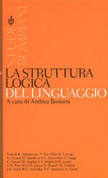 La struttura logica del linguaggio - copertina