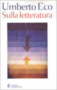 Sulla letteratura - Umberto Eco - copertina
