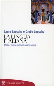 Secchiarapita.it La lingua italiana. Storia varietà dell'uso grammatica Image