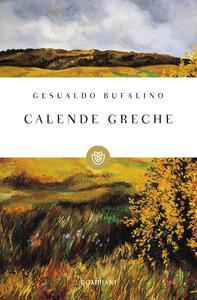 Calende greche - Gesualdo Bufalino - copertina