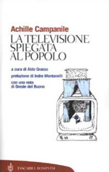 La televisione spiegata al popolo - Achille Campanile - copertina