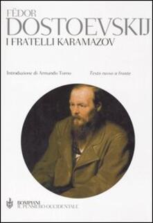 I fratelli Karamazov. Testo russo a fronte - Fëdor Dostoevskij - copertina