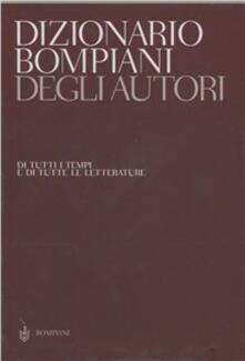 Dizionario degli autori. Cofanetto - copertina