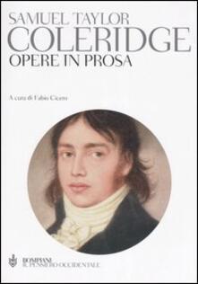 Opere in prosa - Samuel T. Coleridge - copertina