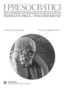 Foto Cover di I presocratici. Testo greco a fronte, Libro di  edito da Bompiani