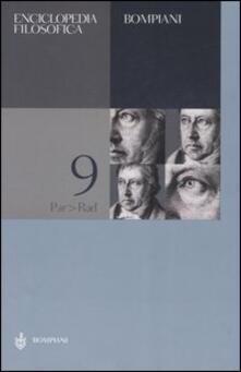 Festivalshakespeare.it Enciclopedia filosofica. Vol. 9: Par-Rad. Image