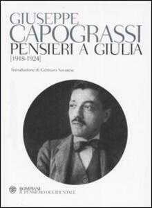 Pensieri a Giulia (1918-1924)