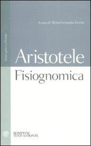 Libro Fisiognomica. Testo greco a fronte Aristotele