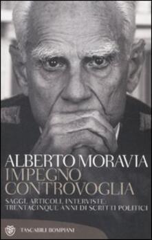 Impegno controvoglia - Alberto Moravia - copertina