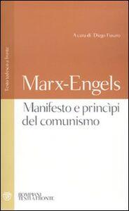 Libro Manifesto e princìpi del comunismo. Testo tedesco a fronte Karl Marx , Friedrich Engels