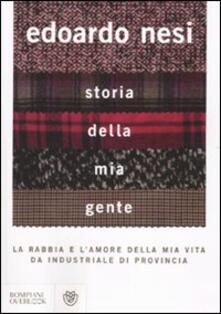 Storia della mia gente - Edoardo Nesi - copertina