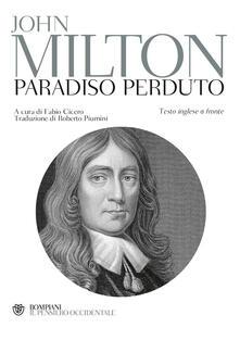 Il paradiso perduto. Testo inglese a fronte - John Milton - copertina