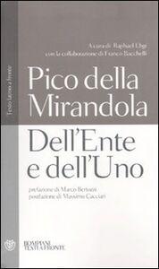 Libro Dell'ente e dell'uno. Testo latino a fronte Giovanni Pico della Mirandola