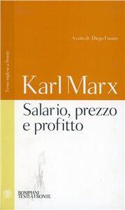 Libro Salario, prezzo, profitto. Testo tedesco a fronte Karl Marx