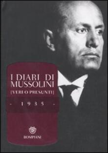 Librisulladiversita.it I diari di Mussolini (veri o presunti). 1935 Image