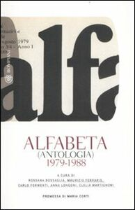 Libro Alfabeta (antologia) 1979-1988
