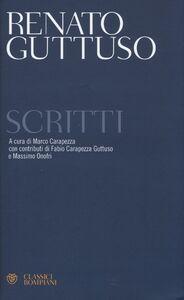 Foto Cover di Scritti, Libro di Renato Guttuso, edito da Bompiani
