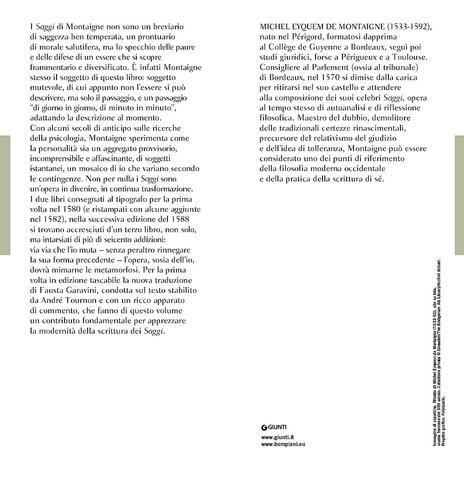 Saggi - Michel de Montaigne - 2