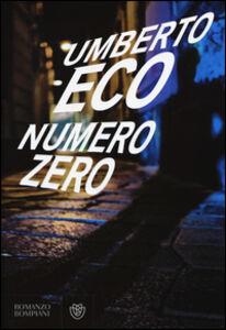 Foto Cover di Numero zero, Libro di Umberto Eco, edito da Bompiani 0