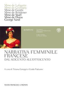 Winniearcher.com Narrativa femminile francese. Dal Seicento all'Ottocento. Testo francese a fronte Image