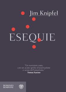 Esequie - Jim Knipfel - copertina