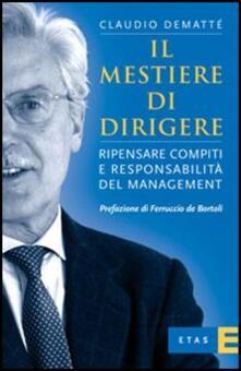 Il mestiere di dirigere - Claudio Demattè - copertina