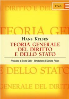 Teoria generale del diritto e dello Stato - Hans Kelsen - copertina