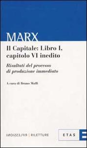 Il capitale: libro 1º, capitolo 6º inedito. Risultato del processo di produzione immediato