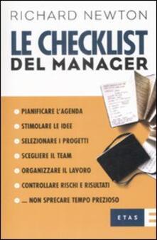 Le checklist del manager - Richard Newton - copertina