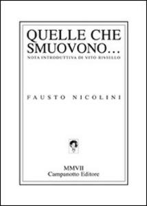 Libro Quelle che smuovono... Fausto Nicolini