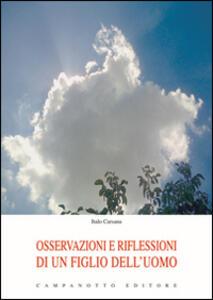 Osservazioni e riflessioni di un figlio dell'uomo
