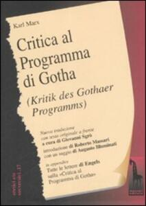 Critica del programma di Gotha. Testo tedesco a fronte - Karl Marx - copertina