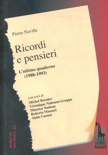 Mercatinidinataletorino.it Ricordi e pensieri. Quaderno di appunti (1988-1993) Image