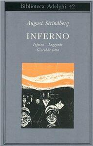 Libro Inferno-Leggende-Giacobbe lotta August Strindberg