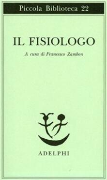 Il fisiologo - copertina
