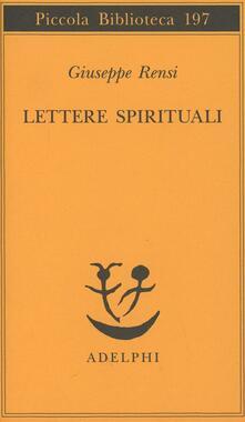 Lettere spirituali - Giuseppe Rensi - copertina