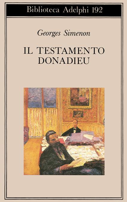 Il testamento Donadieu - Georges Simenon - copertina