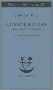 Libro Etienne Mayran Hippolyte Taine
