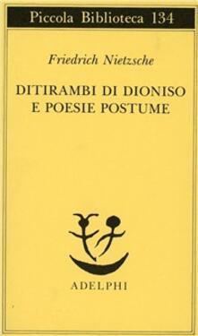 Radiospeed.it Ditirambi di Dioniso e Poesie postume Image
