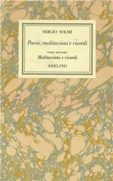 Festivalpatudocanario.es Opere. Vol. 1\2: Poesie, meditazioni e ricordi. Meditazioni e ricordi. Image